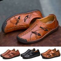 US Men's Casual Driving Boat Shoes Leather Shoes Moccasin Slip On Loafers Buckle