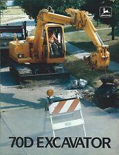 Equipment Brochure - John Deere - 70D - Excavator - c1987 (E3742)