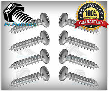 "Sheet Metal Screws Pan Head Phillips Drive Stainless Steel #10 x 1"" Qty 100"