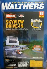 Walthers HO #933-3478 Skyview Drive-In (Building Kit) NEW RELEASE