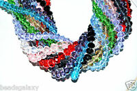 faceted rondelle glass crystal beads,  AB coloured  for size 8 mm, 10 mm, 12 mm