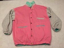Vintage 80's 90's reversible windbreaker jacket Mint Green Hot Pink Womens L