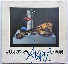 Mario Avati catalogue exposition Tokyo Shimbun et Chunichi Shimbun 1977 JAPAN