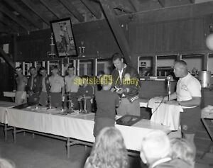 "1960s Ted Williams @ Baseball Camp Awards Ceremony - Vintage 4"" x 5"" Negative"