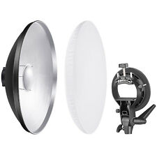 Neewer Photo Beauty Dish 41cm White Reflector Lighting Diffuser With Bracket