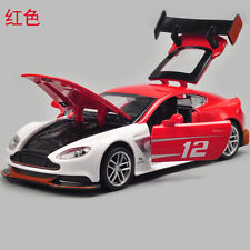 Aston Martin Vantage GT3 Model Cars Toys 1:32 Alloy Diecast Sound & Light Red