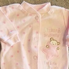 SWEET! LITTLE ME PREEMIE THANK HEAVEN FOR GIRLS FOOTED SLEEP N PLAY OUTFIT