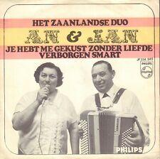 """ZAANLANDSE DUO AN & JAN – Jij Hebt Me Gekust Zonder Liefde (1968 SINGLE 7"""")"""