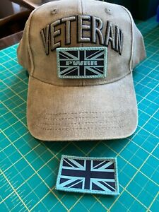 PWRR VETERAN'S adjustable baseball cap with patches, 3D Veteran's sign