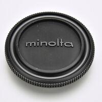Genuine Minolta Black Camera Body Cap SR MC MD SRT XG XD (#3523)