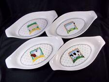 "Set of 4 Vandor Country oval au gratin dish Animals 8.25"" Pelzman china"