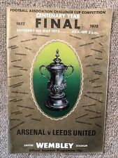 Arsenal V Leeds United Fa Cup Final 1972 Programme