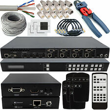 4x4 hdbt Hdmi Matrix instalar Kit-hdbaset 3d 4k ir-Multiroom Hd Tv distribución