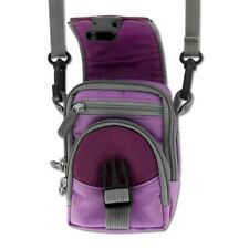 Digital Camera Case Carrying Bag Pouch Neck Strap Small Size Universal Purple