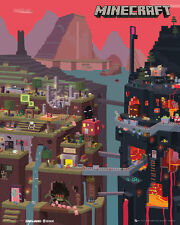 Minecraft World Gaming Mini Poster print 40x50cm   16x20 pouces