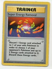Super Energy Removal Shadowless - Base Set 79/102 - Rare Pokemon Card Heavy Play