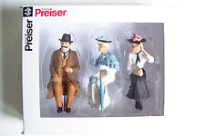Preiser G scale 1:22.5 Three Old Time Seated Figures 45056 - Clothes Color # 5