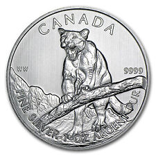 2012 Canada 1 oz Silver Wildlife Series Cougar - SKU #64598