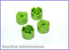 Lego 4 x  Rundsteine hellgrün - 3941 - Brick, Round 2 x 2 Lime - NEU / NEW