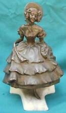 Arnulf Hofmann German Bronze Statue of Girl in Dress   MAGNIFICENT