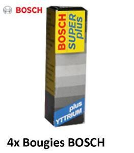4 Bougies 0242229656 BOSCH Super+ SUZUKI SJ 413 1.3 64 CH
