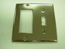 Nickel GFI Toggle switch Plate