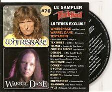 ROCK HARD FRENCH PROMO CD ALB WHITESNAKE TIAMAT TESTAMENT DOKKEN DEICIDE
