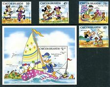 Caicos Islands 42-45 Disney characters Easter 1984 x14655