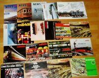 18x Märklin Katalog Gesamtkatalog Spur HO Werbung Prospekte 70er 80er alt Sammlu