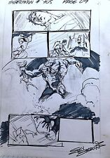 EDDY BARROWS  SUPERMAN #705 PAGE 9 & SKETCH  ORIGINAL LAYOUT ART PAGES  SIGNED!
