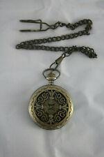 CaifuMechanical Pocket Watch Brass Coloured Cross