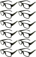 Reading Glasses [+1.25] 24 Black Plastic Frame  Wholesale Lot Reader Unisex 1.25