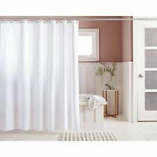 Threshold Woven Stripe Shower Curtain, 72 x 72 Standard Top, White ** New **