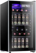 Antarctic Star 26 Bottle Wine Cooler Mini fridge Glass Door Counter Top Fridge
