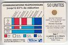 VARIETE TELECARTE CORDON BLANC .. 50U Ko58 SC4OB 1 N° DEFORME IMP.711?18 C.?€