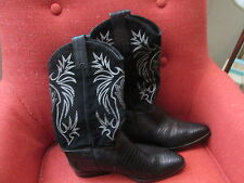 Sartore Woman's Suede/Leather Cowboy Boots size 10 Black