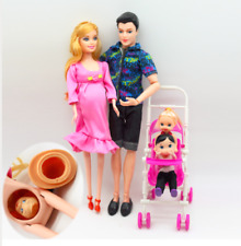 Pregnant Barbie Doll Midge Happy Family Lot Clothes Baby Belly Dress Shoes