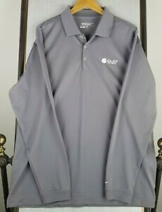 NIKE GOLF Tour Performance Size XL Mens Polo Shirt Golf Casual Long Sleeve Gray