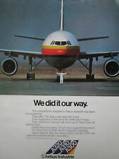 12/1981 PUB AIRBUS A300 A310 A320 THAI AIRWAYS PHILIPPINE AIRLINES TAILS  AD