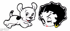 "1.5"" Betty boop face & dog pudge  fabric applique iron on character"
