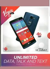 LG Tribute 2 II Virgin Mobile 4G LTE No Contract Cell Phone ( Blue )