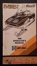 1980 EVEREST- Ski-doo -Operator's Manual (Bilingual)-Very Good Condition - (CDN)