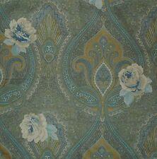 ETRO Jais Azzurro Blue Gold Cream Paisley Cotton Italy Remnant New