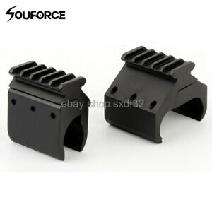 Tactical Single/Double Tube Rifle Picatinny Rail Adaptor for 20mm Rail Mount