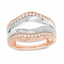 2.45 Ct Round Diamond 10k Two Tone Gold Over Wrap Enhancer Wedding Band Ring