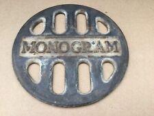 Vintage Antique Cast Iron Monogram Stove Top