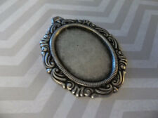 Vintage Inspired 25X18mm Oxidized Silver Plated Swag Design Setting - Qty 2