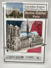 Notre Dame de Paris maquette a monter en carton 46x20x31cm belle qualité