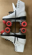 Vintage Roller Derby White Leather Size 10 Woman's Skates
