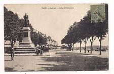 mâcon , quai sud , statue de lamartine  -
